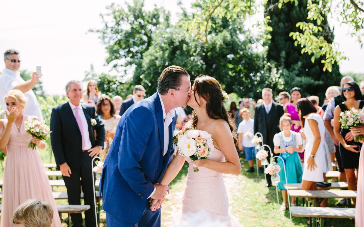 Pretty pastel vineyard wedding